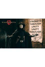 V For Vendetta W jedności Siła - plakat
