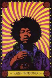 Jimi Hendrix Psychedelic - plakat