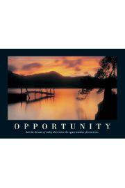 Opportunity - Zachód Słońca - plakat motywacyjny