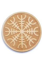Runiczny krąg ochronny, drewno