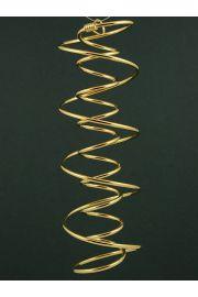 Podwójna spirala D.N.A, miedź pozłacana