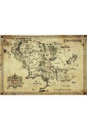 Antyczna Mapa na Pergaminie - W�adca Pier�cieni Lord of the Rings - Edycja Kolekcjonerska - reprodukcja