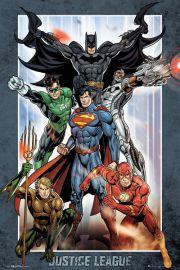 DC Comics Liga Sprawiedliwych - plakat