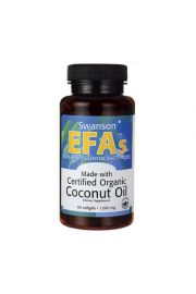 Swanson Olej z kokosa Coconut Oil 1000mg 60 kaps.