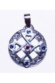 Krzyż serca wisior