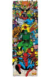 Marvel Komiks Bohaterowie - retro plakat
