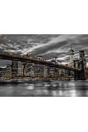 Nowy Jork Nocą by Frank Assaf - plakat