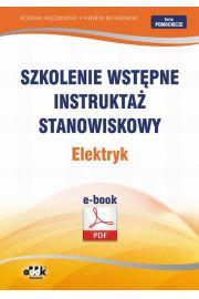 Szkolenie wstępne Instruktaż stanowiskowy Elektryk
