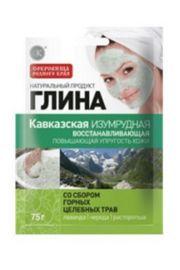 Szmaragdowa Glinka kaukaska z dodatkiem ziół górskich Fitocosmetic
