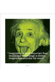Albert Einstein I.Quote - Imagination - reprodukcja