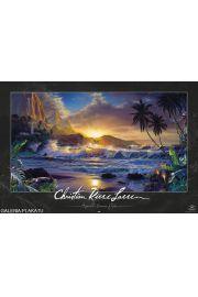Lassen - Wzburzone Morze i Zach�d S�o�ca w Tropikach - plakat