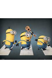 Minionki Abbey Road - plakat
