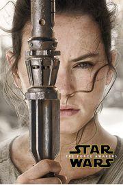 Star Wars Gwiezdne Wojny Przebudzenie Mocy Rey - plakat