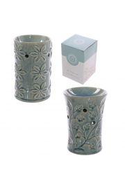 Ozdobny podgrzewacz ceramiczny z kwiecistym wzorem