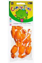 Lizaki Okrągłe O Smaku Pomarańczowym Bezglutenowe Bio (7 X 10 G) - Candy Tre