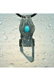 Wodospad, kryształ z turkusem