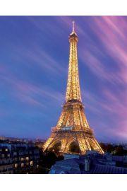 Wieża Eiffla o Zmroku - Paryż - plakat