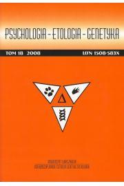 Psychologia-Etologia-Genetyka nr 18/2008