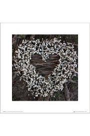 Madalenes Hearts Branches - art print