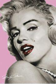 Marilyn Monroe Różowe Usta - plakat