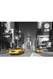 Nowy Jork Times Square Żółta Taksówka - plakat