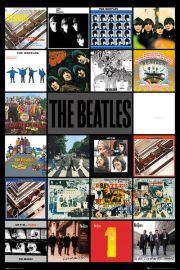 The Beatles Okładki Płyt - plakat