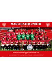 Manchester United Skład Drużyny 2014 - plakat