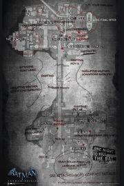 Batman Arkham Origins Mapa - plakat