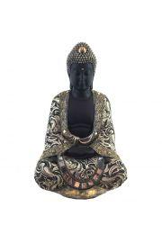 Metaliczna figurka z siedz�cym tajskim budd�