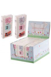 Chusteczki higieniczne z nadrukiem z sowami - zestaw 36 paczek