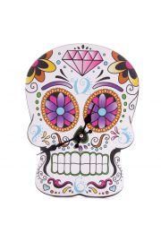 Zegar ścienny w kształcie meksykańskiej czaszki - Projekt Lauren