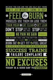 Siłowania Ćwiczenia - motywacyjny plakat