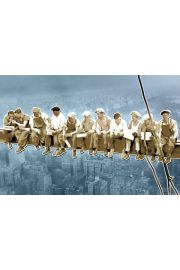 Nowy Jork Robotnicy na Belce Pop Art - plakat