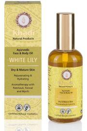 Ajurwedyjski olejek do twarzy i ciała z białą lilią Khadi 100 ml
