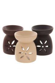 Duży Ceramiczny Świecznik Olejowy Kwiaty