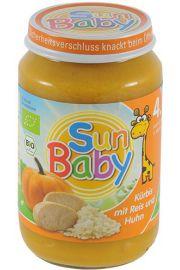 4 Mc Dynia, Ryż, Kurczak Bezglutenowe Bio 190 G - Sun Baby