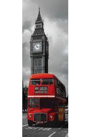 Londyn Big Ben i Czerwony Autobus - plakat