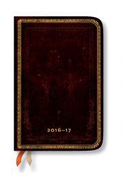 Kalendarz 2016-17 18-mc Black Moroccan Mini Horyzontalny
