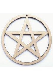 Pentagram a�urowy, drewno