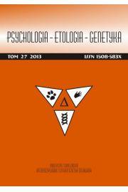 Psychologia-Etologia-Genetyka nr 27/2013