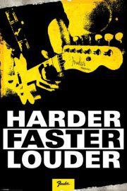Fender - Mocniej, szybciej, g�o�niej - plakat