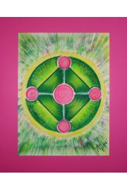 "Mandala ""Radosne serce"""