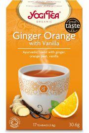 Herbatka Imbirowo - Pomarańczowa Z Wanilią Bio (17 X 1,8 G) - Yogi Tea