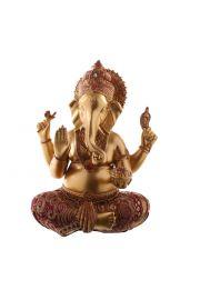 Złoto-czerwona figurka Ganesa