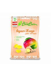Cukierki Twarde O Smaku Imbiru I Mango Bezglutenowe Bio 85 G - Bio Bon