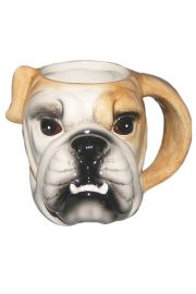 Ceramiczny kubek z nadrukiem - Głowa Buldoga