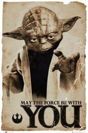 Star Wars Gwiezdne Wojny - Yoda - Niech moc b�dzie z Tob� - plakat