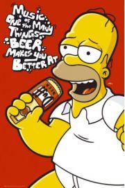 The Simpsons Muzyczny Homer - Piwo - plakat