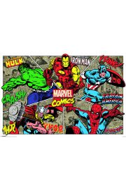 Marvel Comics - Bohaterowie - plakat