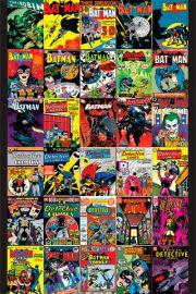 DC Comics Batman - Okładki Komiksów - retro plakat